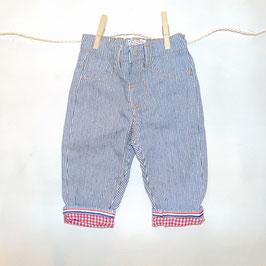 Pantalón rayas NEL BLU