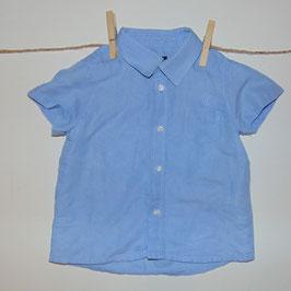 Camisa MAYORAL azul 55% lino