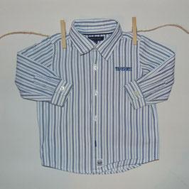 Camisa blanca rayas azules TOMMY HILFIGER