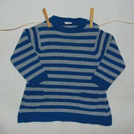 Vestido ZARA rayas azul/gris