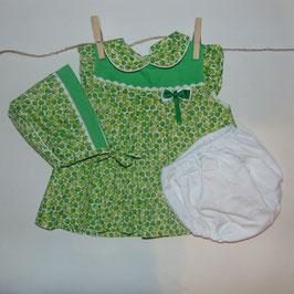 Vestido 3 piezas BABYFERR manzanas verdes