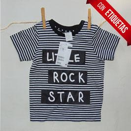 Camiseta H&M nueva rayas negra