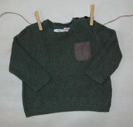 Jersey verde ZARA bolsillo