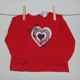 Camiseta roja CHEROKEE corazón