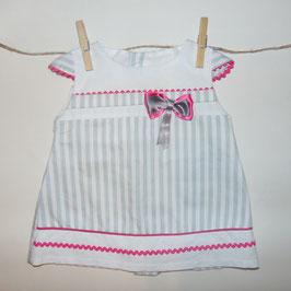 Vestido BABYFERR rayas lazo rosa