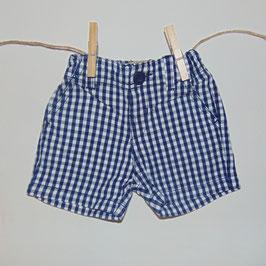 Pantalón corto ZARA cuadros azul/blanco