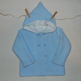Abrigo punto doble azul ROSITA