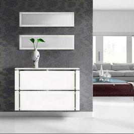 Cubre radiador flotante CLIMA AMBIENTE 100cm Especial 18cm fondo - Armazón Blanco Soft/Frontal color Blanco Soft.