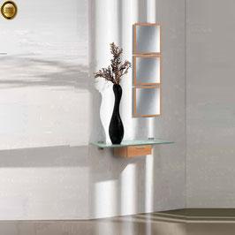 Recibidor diseño XICÓTE 80cm (Sobre cristal) - Color Cerezo Duero.