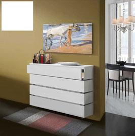 Cubre radiador flotante STANDARD CAJÓN Especial 110cm Fondo 27cm - Color Blanco Soft.
