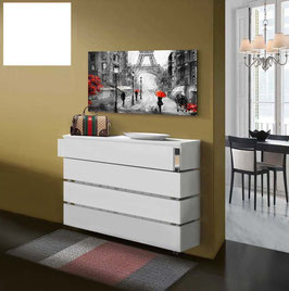 Cubre radiador flotante STANDARD CAJÓN 80cm Especial alt 96cm - Color Blanco Soft.