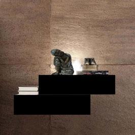 Mesita de noche flotante LEWIS Especial 70cm Derecha - Color Negro Soft.