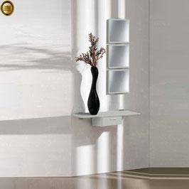 Recibidor diseño XICÓTE 80cm (Sobre madera) - Color Aluminio Titán.