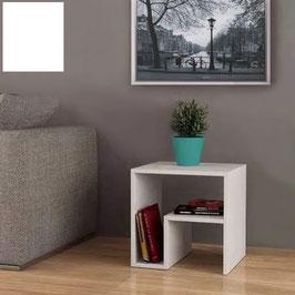Mesita, mesa auxiliar STIL - Color Blanco Soft.