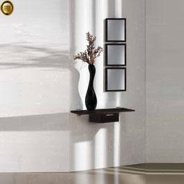 Recibidor diseño XICÓTE 80cm (Sobre madera) - Color Negro Soft.
