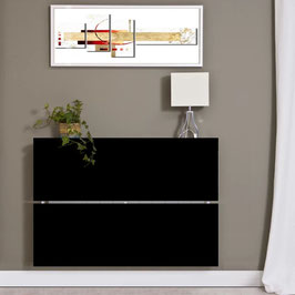 Cubre radiador flotante OMEGA 120cm Especial Alt 78cm - Color Negro Soft.