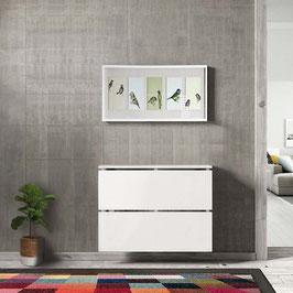 Cubre radiador flotante CLASSIC BOX 50cm Especial fondo 18,5cm - Color Blanco Soft.