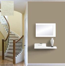 Recibidor TUCSON 80cm - Blanco Soft / Cajonera color Roble Oxford.