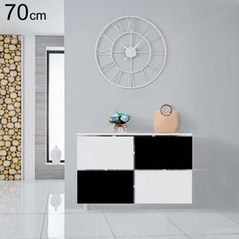Cubre radiador flotante BLACK WHITE 70cm Especial altura.