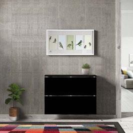 Cubre radiador flotante CLASSIC BOX 70cm Especial fondo 23cm - Color Negro Soft.