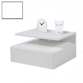 Mesita de noche flotante ALFA Especial 35cm - Color Blanco Soft.