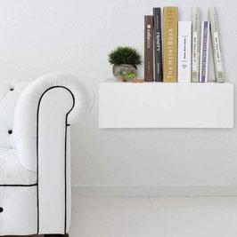 Mesita de noche flotante Especial 64x21x31cm - Color Blanco Soft.