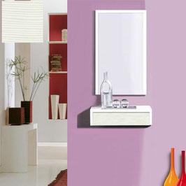 Recibidor OVIEDO 50cm - Blanco Soft / Frontal cajón Oregón Siena.