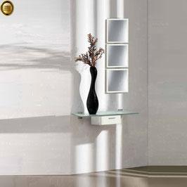 Recibidor diseño XICÓTE 80cm (Sobre cristal) - Color Oregón Siena.