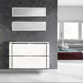 Cubre radiador flotante CLIMA AMBIENTE 90cm Especial fondo 20cm - Armazón Blanco Soft / Frontal color Blanco Soft.