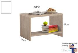 Mesita, mesa auxiliar MAGNUM - Color Blanco Soft.