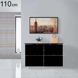 Cubre radiador flotante BLACK WHITE 110cm Especial fondo 18cm - Color Negro Soft Total.