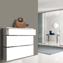 Cubre radiador flotante STIL CAJÓN 90cm Especial Alt. 106cm - Color Blanco Soft.