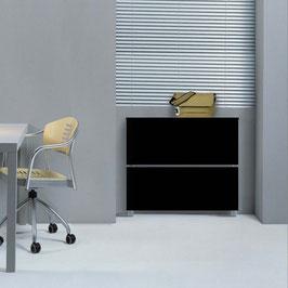 Cubre radiador flotante CLASSIC BOX Especial Patas 93x87x27cm - Color Negro Soft.