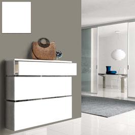 Cubre radiador flotante STIL cajón 110cm - Color Blanco Soft.