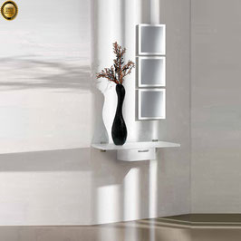 Recibidor diseño XICÓTE 80cm (Sobre madera) - Color Blanco Soft.