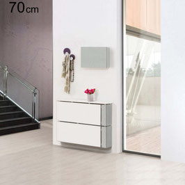 Cubre radiador flotante DESING Especial 70x80x20cm - Color Blanco Soft / Lateral derecho Color Aluminio Titán.