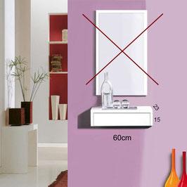 Recibidor OVIEDO Especial 60cm Sin espejo - Blanco Soft / Frontal cajón Blanco Soft.