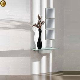 Recibidor diseño XICÓTE 80cm (Sobre cristal) - Color Aluminio Titán.