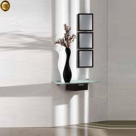 Recibidor diseño XICÓTE 80cm (Sobre cristal) - Color Negro Soft.