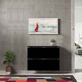 Cubre radiador flotante CLASSIC BOX Especial 80x85x16,5cm - Color Negro Soft.
