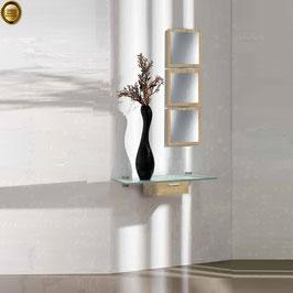 Recibidor diseño XICÓTE 80cm (Sobre cristal) - Color Roble Cosmopolitan.