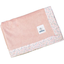 Plaid Doudou rose / Starfly