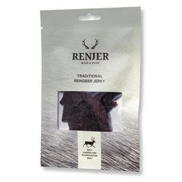 Renjer Traditional Rentier Jerky, Trockenfleisch 25 g