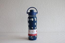 LIFEFACTORY Bottle - 650ml / Flip / DUNKELBLAU