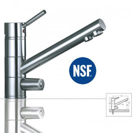 CLOÉ - Chrom 3-Wege-Wasserhahn / NSF