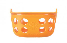 GLASS FOOD CONTAINER - 950ml / orange