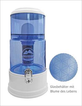 PIPRIME® K2 Wasserfilter Blume-des-Lebens / mit Edelsteinen