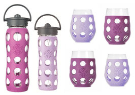 LIFEFACTORY GLASSES & BOTTLES / lila & pink
