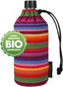 EMIL Glas-Trinkflasche 0,4l / Gestreift Bio-Cotton