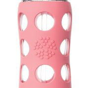 LIFEFACTORY GLASS BOTTLE - 470 ml / Straw Cap / CORAL